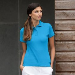 Henbury Women's stretch piqué polo shirt