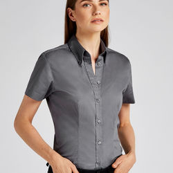 Kustom Kit Ladies' Coporate Oxford Short Sleeve Shirt