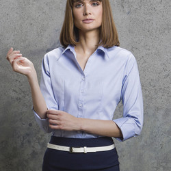 Kustom Kit Women 3/4 Sleeve Corporate Oxford Shirt