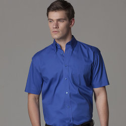 Kustom Kit Men Corporate Oxford shirt short sleeved