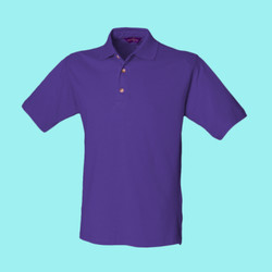 Henbury Classic cotton piqué polo with stand-up collar