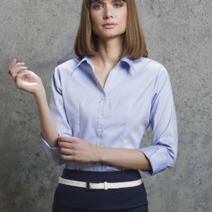 Kustom Kit Women 3/4 Sleeve Corporate Oxford Shirt. **10 days delivery period. Thumbnail