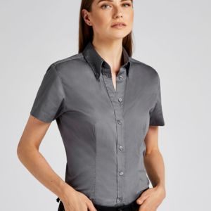 Kustom Kit Ladies' Coporate Oxford Short Sleeve Shirt. **10 days delivery period. Thumbnail