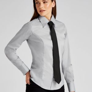 Kustom Kit Ladies' Corporate Long Sleeve Oxford Shirt. **10 days delivery period. Thumbnail