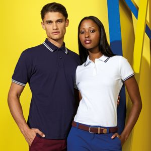 Asquith & Fox Men's classic fit tipped polo. **10 days delivery period. Thumbnail