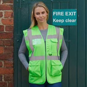 Yoko Multi-functional executive hi-vis waistcoat. **10 days delivery period. Thumbnail