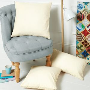 Westford Mill fairtrade Cotton Canvas Cushion Cover Thumbnail