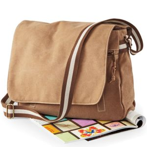 Quadra Vintage Canvas Despatch Bag.**10 days delivery period.  Thumbnail