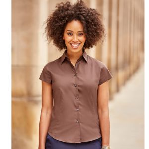 Russell ladies Capped style sleeves Easycare Fitted Shirt.**10 days delivery period. Thumbnail