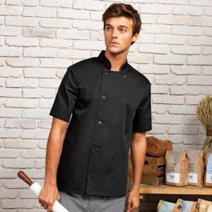 Premier Short sleeved chef's jacket.**10 days delivery period. MOQ 10pcs Thumbnail