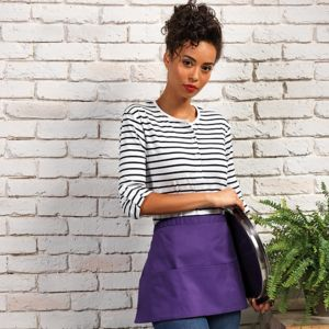 Premier Colours 3 pocket polycotton apron.**10 days delivery period. MOQ 10pcs Thumbnail