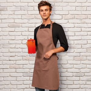 Premier Colours bib polycotton apron with pocket.**10 days delivery period. MOQ 10pcs  Thumbnail