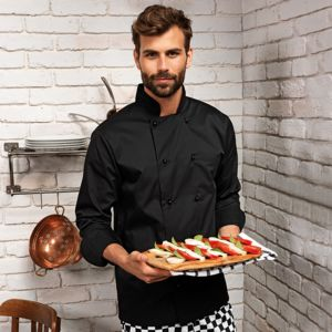 Premier Cuisine long sleeve chef's jacket with removable studs.**10 days delivery period. MOQ 10pcs Thumbnail