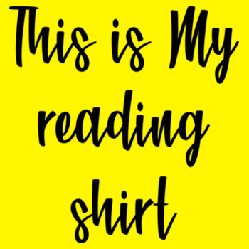 THIS IS MY READING SHIRT Design