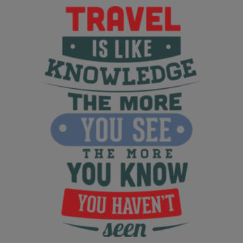 TRAVEL IS LIKE KNOWLEDGE Design