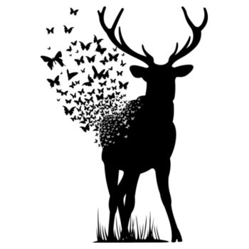 DEER BUTTERFLY Design