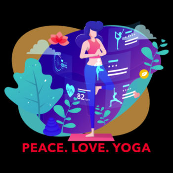 PEACE LOVE YOGA Design
