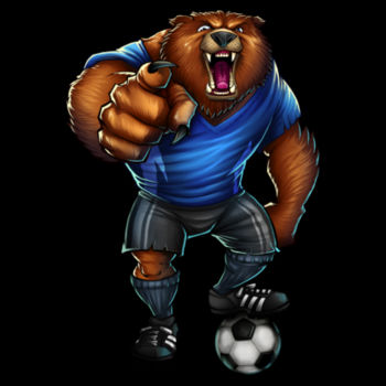 BEAR SOCCER PLAYER Design